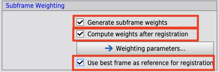 Subframeの選択・重み付け