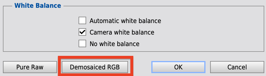 Demosaiced RGBに戻す!