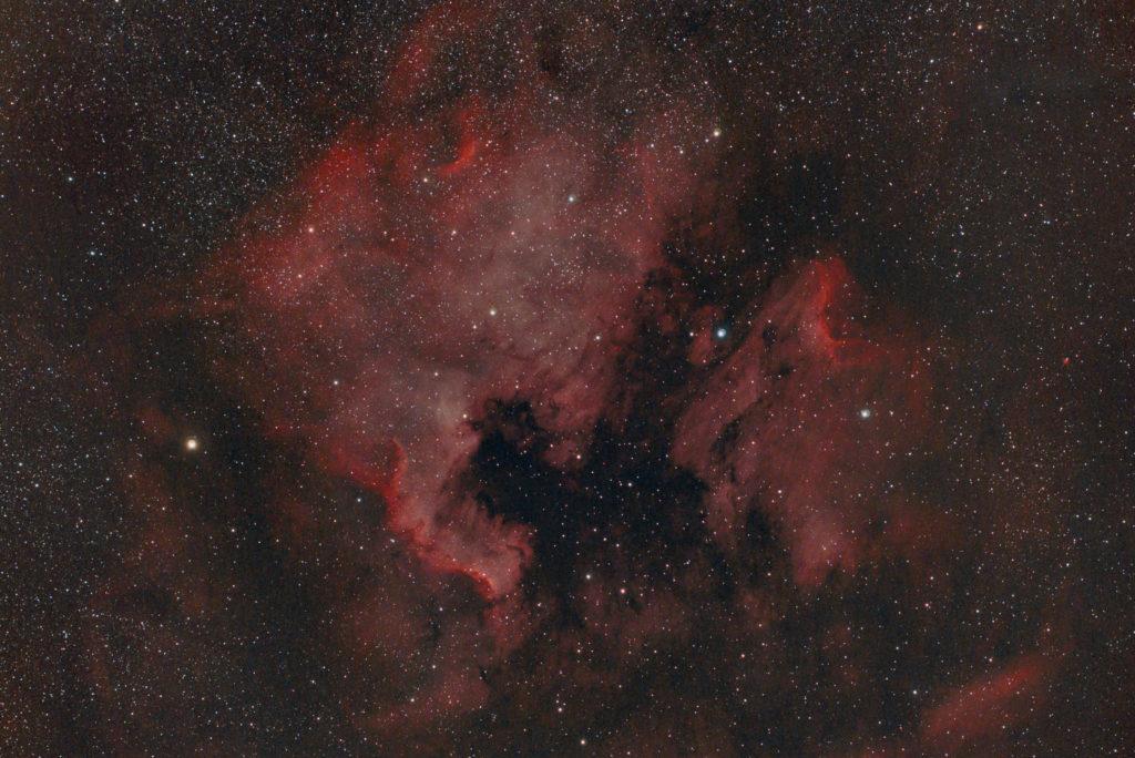 月夜の北アメリカ星雲とペリカン星雲