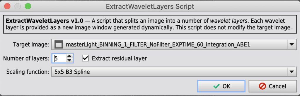 ExtractWaveletLayers Script