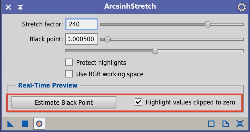 ArcsinhStretchのEstimate Black Pont