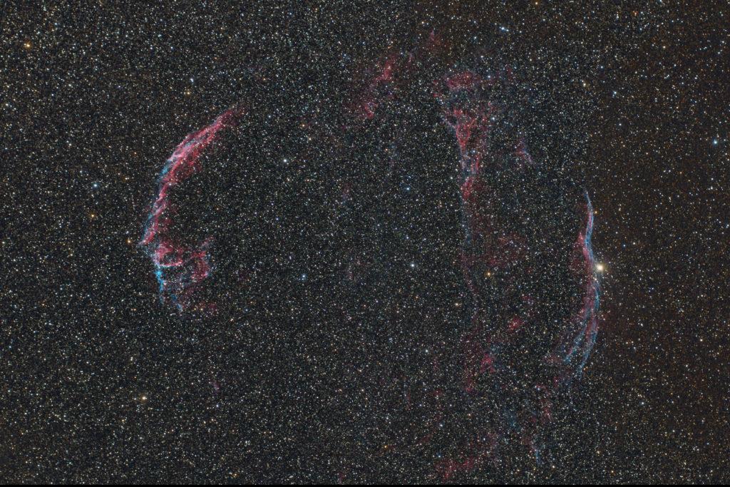 天狗高原の網状星雲