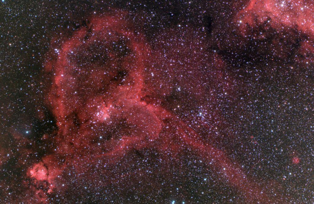 モノクロCMOSカメラによるハート星雲