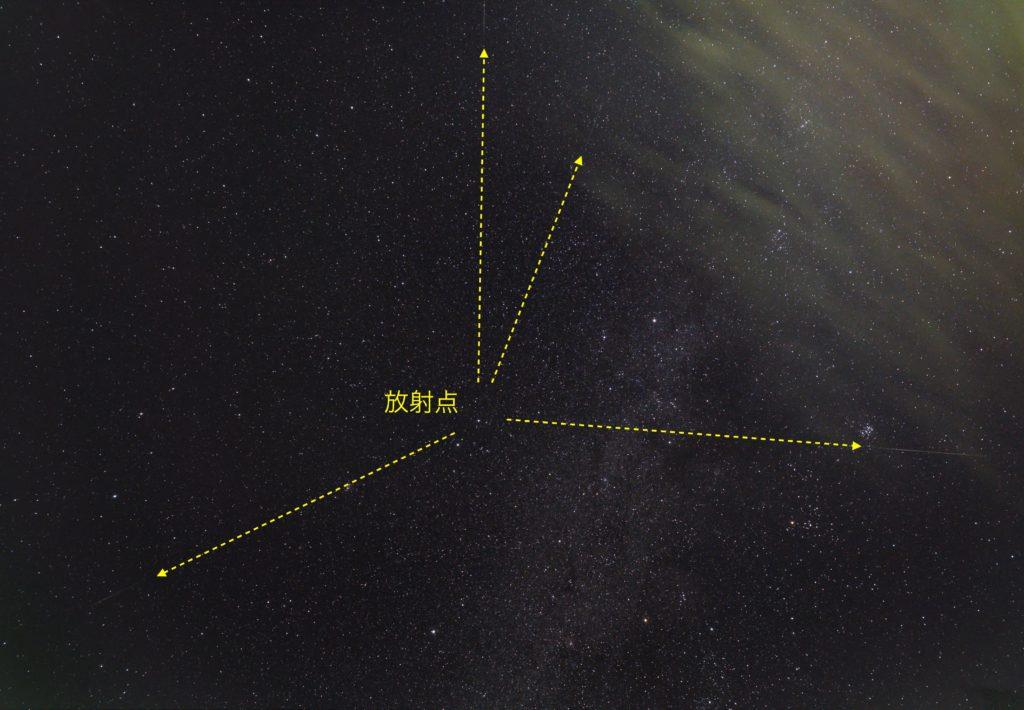 ふたご座流星群 放射点