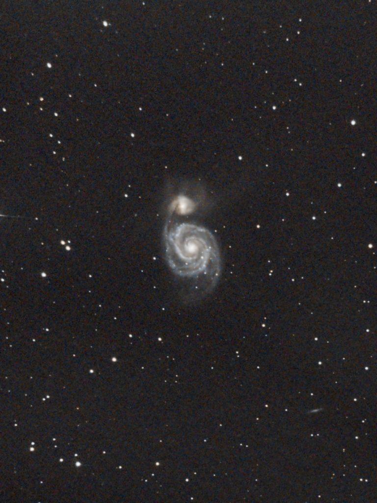 デビュー作 M51子持ち銀河
