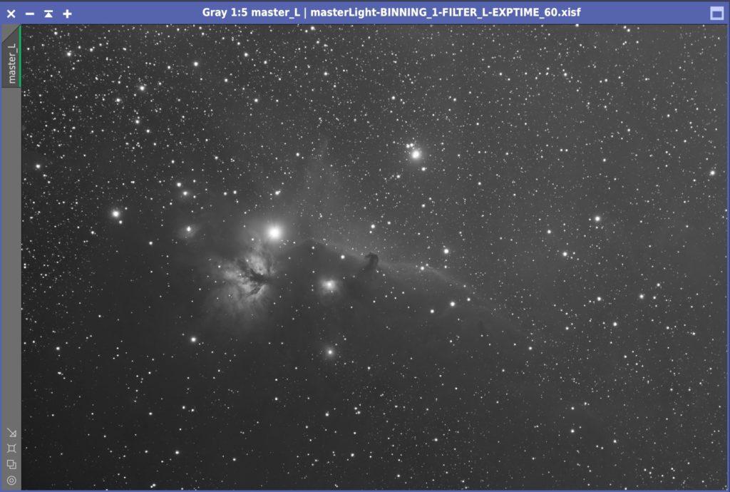馬頭星雲のL画像