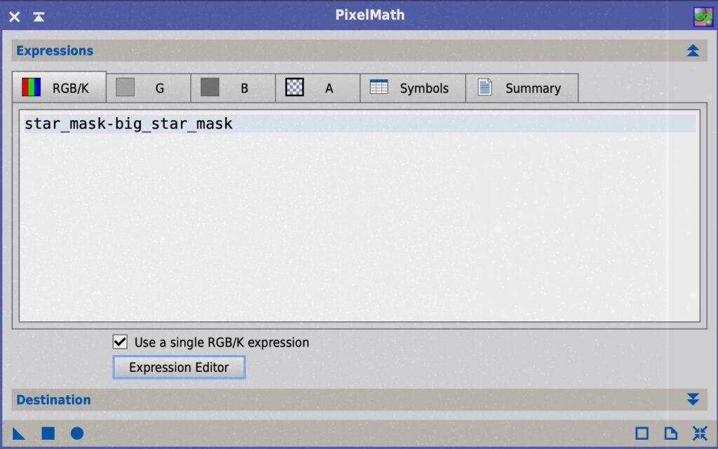 PixelMathの実行