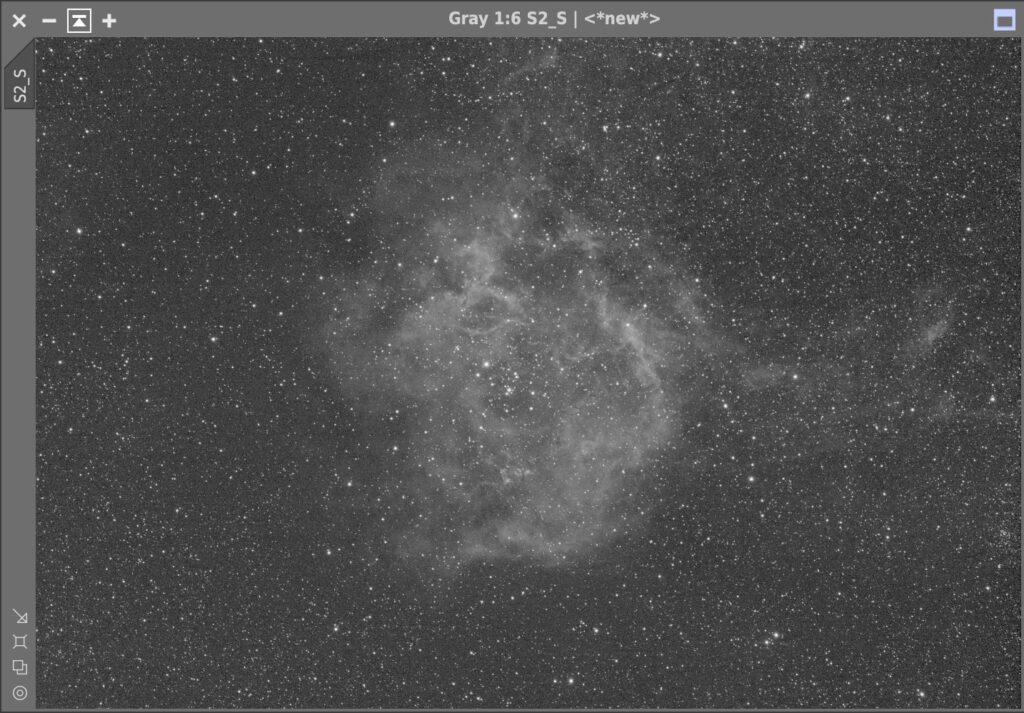 対象となる薔薇星雲のSII画像