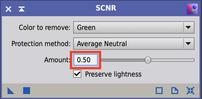 SCNR: Amountは0.5