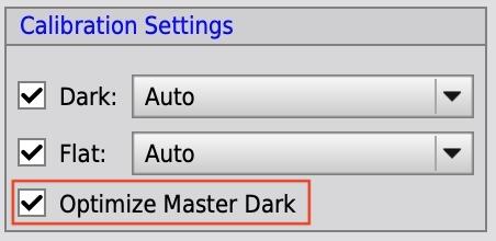 Optimize Master Darkオプション