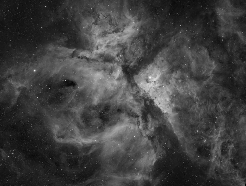 イータカリーナ星雲のHα画像 -  Photo by AstroCHL2JPN