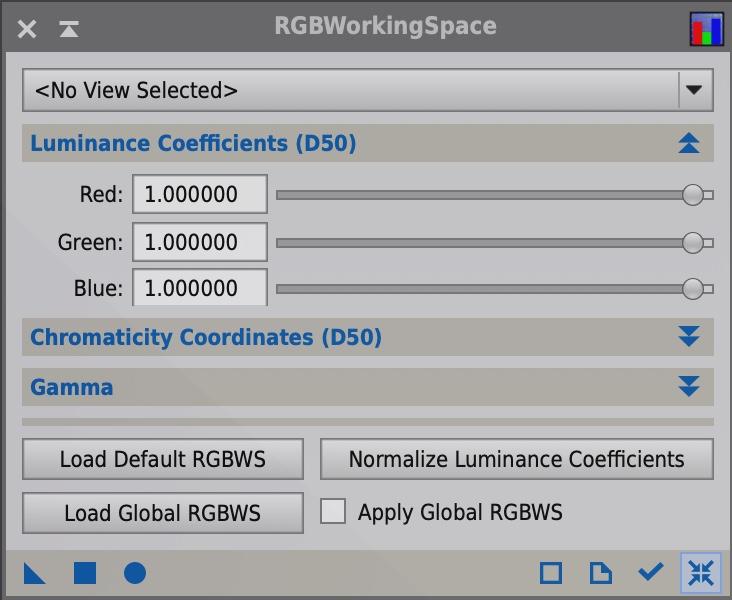 RGBWorkingSpaceでRGB比率を1:1:1にする